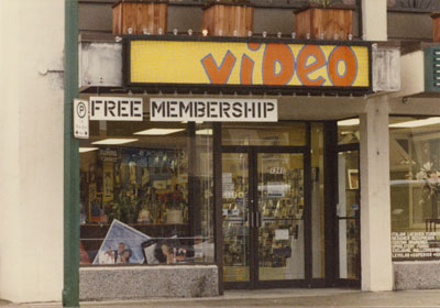 Video Store on Marine Drive