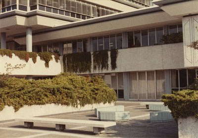West Vancouver Municipal Hall Courtyard