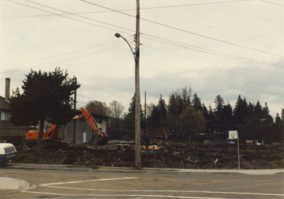 Construction site in 2000 block Marine Drive