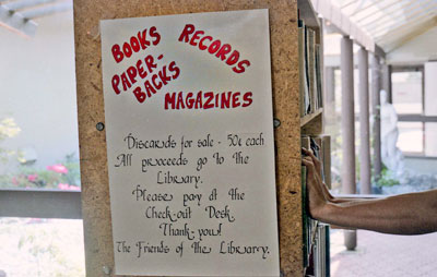WVML Book Sale Sign
