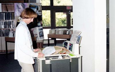 WVML Patron Using Photocopier