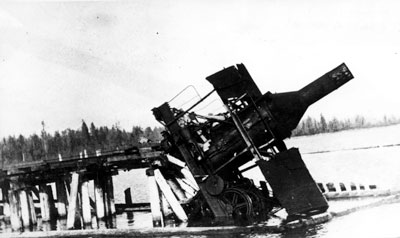 Runaway of McNair logging engine