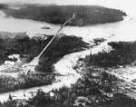 Aerial of Capilano River Flood