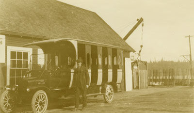 First Ford Bus in West Vancouver