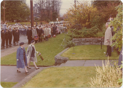 Wreath Laying, Second World War Plinths