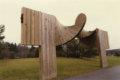 """Standing Wave"" Wood Sculpture"