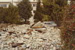 Parking Lot at 1783 Marine Drive with Rubble