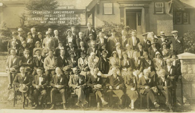 West Vancouver 20th Anniversary Pioneers