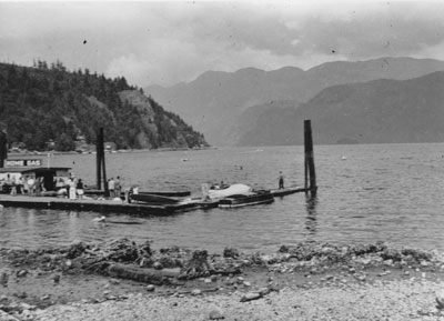 Horseshoe Bay with view of Home Gas dock