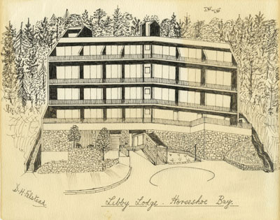 Sketch of Libby Lodge