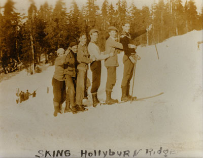 Skiers on Hollyburn Ridge