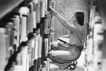 Library Patron Searching for Books