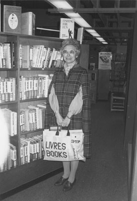 Madeline Williams President of the Friends of the Library