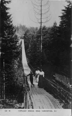 Postcard of Capilano Bridge