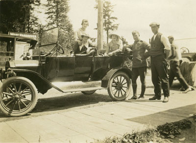 Group Standing Beside a Car at Dundarave