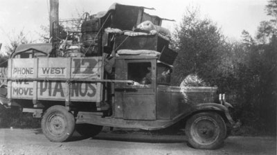 Robert James Blacks' Moving Company Truck
