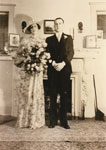 Wedding Portrait of Mildred Ford & Leslie Hughes