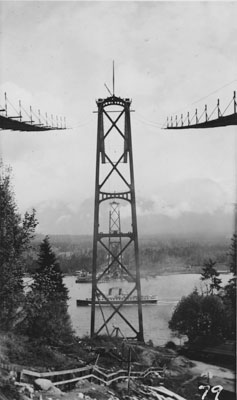 Lions Gate Bridge Under Construction