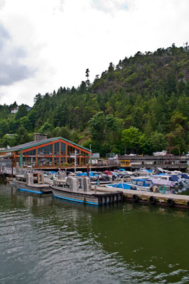 The Boathouse Restaurant from the Dock