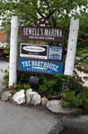 Signage for Sewell's Marina & The Boathouse