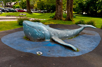 Whale Sculpture in Horseshoe Bay