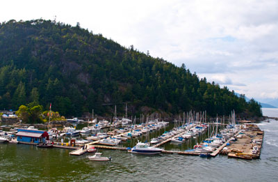 View of Sewell's Marina and Tyee Point from the Ferry