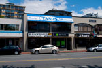 Tasos Family Restaurant, Donya Currency Exchange, and H&R Block