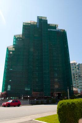Renovations on Les Terraces Apartment Building