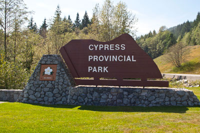 Cypress Provincial Park Sign