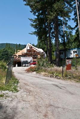 Construction at 3033 Marine Drive