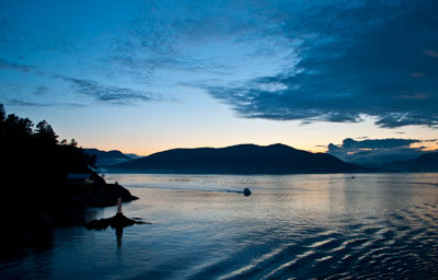 Tyee Point at Sunset
