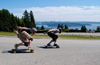 Longboarders on Westhill Drive