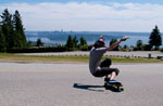 Longboarder on Westhill Drive