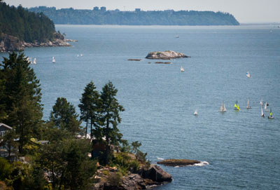 Sailboats, The Grebe Islets, & Point Grey