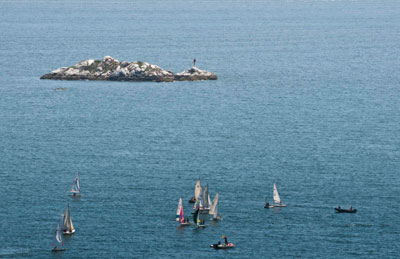 Sailboats & The Grebe Islets