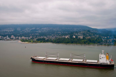 Cargo Ship in Burrard Inlet