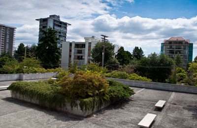 The West Vancouver Municipal Hall Courtyard