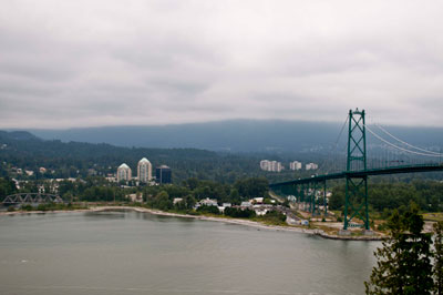 West Vancouver Waterfront & Lions Gate Bridge