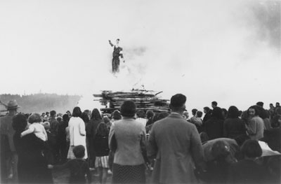 Effigy of Hitler Being Burnt