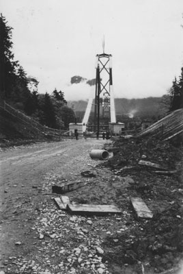 Construction of Lions Gate Bridge