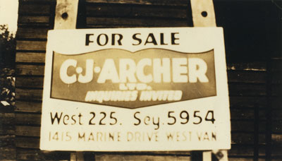 C.J. Archer For Sale Sign