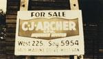 C.J. Archer For Sale Sign