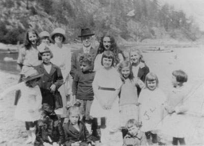 Group on the Beach at Eagle Harbour