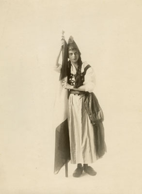 Portrait of Miss Little Dressed in Costume