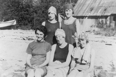 Women on the Beach at Eagle Harbour