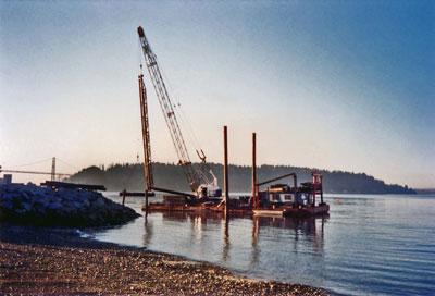 Crane Working on Ambleside Pier