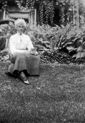 Woman & Cat in Garden