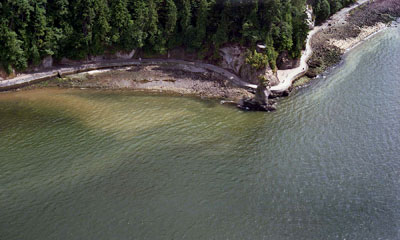 Aerial View of Seawall & Siwash Rock