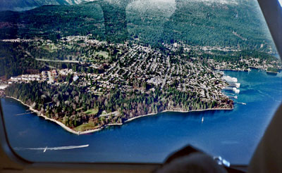 Aerial View of Deep Cove & Cates Park
