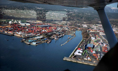 Aerial View of North Vancouver Harbour
